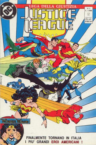 Cover for Justice League [Lega della Giustizia] (Play Press, 1990 series) #1
