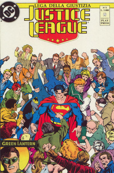 Cover for Justice League [Lega della Giustizia] (Play Press, 1990 series) #3
