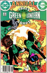 Cover Thumbnail for Tales of the Green Lantern Corps Annual (DC, 1985 series) #1 [Newsstand Variant]