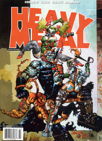 Cover for Heavy Metal Magazine (Heavy Metal, 1977 series) #v23#1