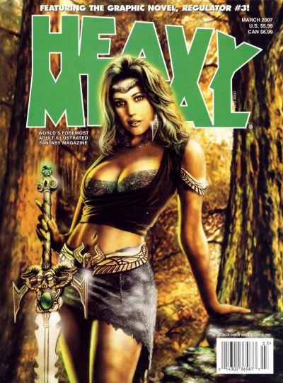 Cover for Heavy Metal Magazine (Heavy Metal, 1977 series) #v31#1