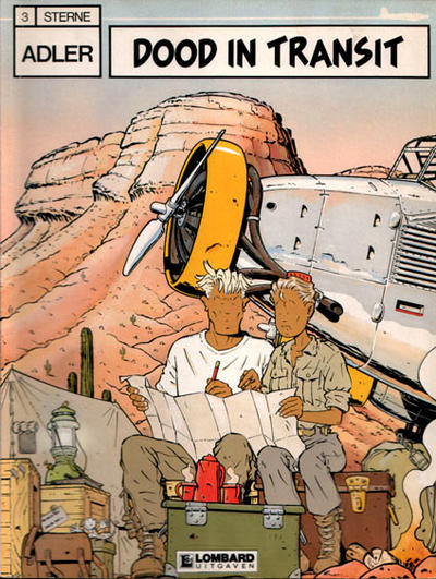 Cover for Adler (Le Lombard, 1987 series) #3 - Dood in transit