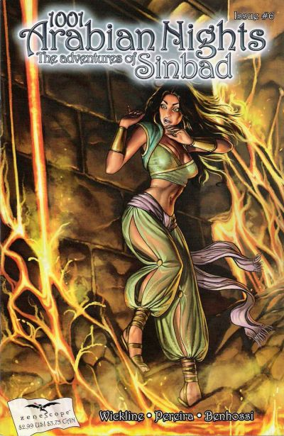 Cover for 1001 Arabian Nights: The Adventures of Sinbad (Zenescope Entertainment, 2008 series) #6 [Cover B - Fell]