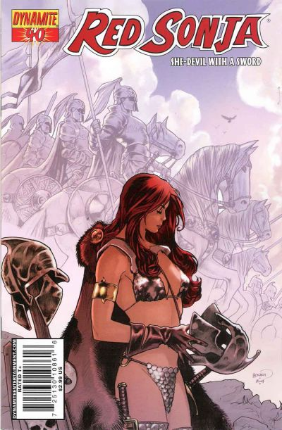 Cover for Red Sonja (Dynamite Entertainment, 2005 series) #40 [Cover A]