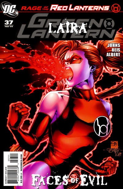 Cover for Green Lantern (DC, 2005 series) #37 [Second Printing]