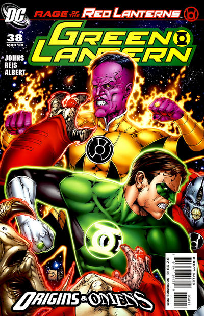 Cover for Green Lantern (DC, 2005 series) #38 [Second Printing]