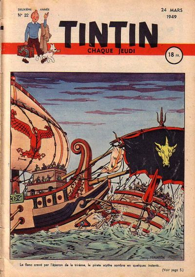 Cover for Journal de Tintin (Dargaud éditions, 1948 series) #22