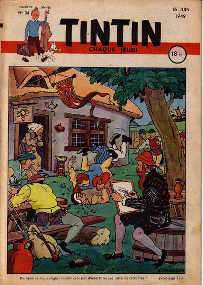 Cover for Journal de Tintin (Dargaud éditions, 1948 series) #34