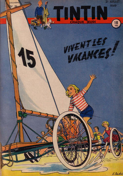 Cover for Journal de Tintin (Dargaud éditions, 1948 series) #39