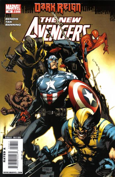 Cover for New Avengers (Marvel, 2005 series) #48