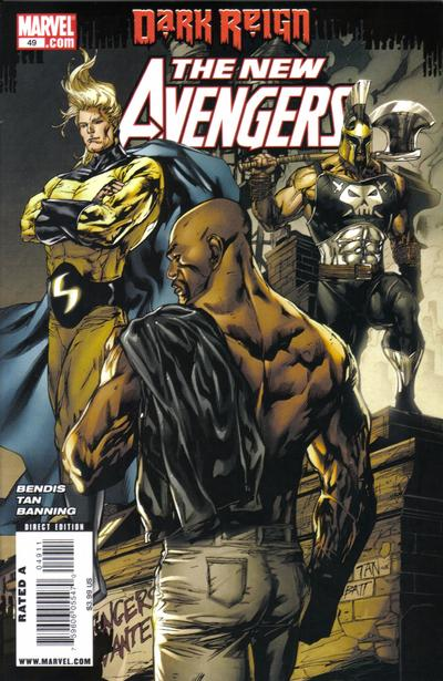 Cover for New Avengers (Marvel, 2005 series) #49 [second print variant]