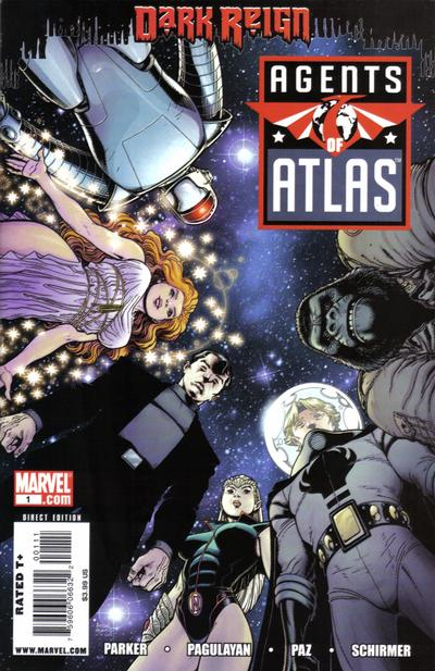 Cover for Agents of Atlas (Marvel, 2009 series) #1 [2nd Printing Variant Cover]