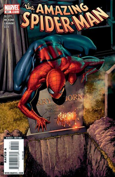 Cover for The Amazing Spider-Man (Marvel, 1999 series) #581 [Villain Variant]