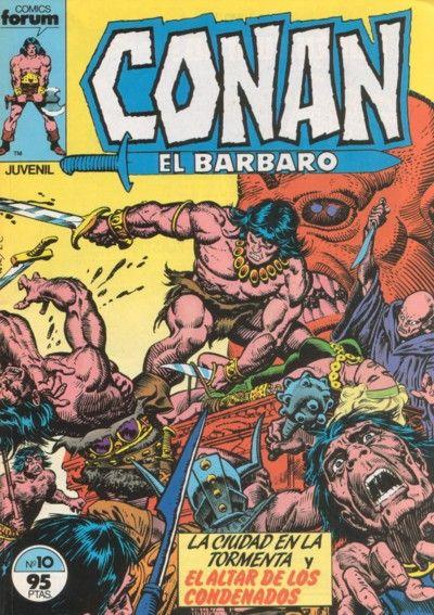 Cover for Conan el Bárbaro (Planeta DeAgostini, 1983 series) #10