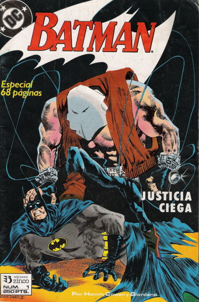 Cover for Batman [Batman Justicia Ciega] (Zinco, 1990 series) #1
