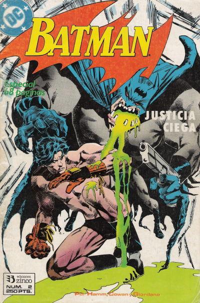 Cover for Batman [Batman Justicia Ciega] (Zinco, 1990 series) #2