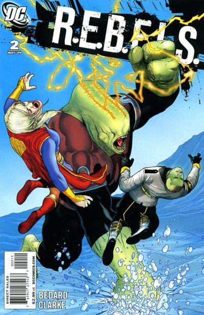 Cover for R.E.B.E.L.S. (DC, 2009 series) #2