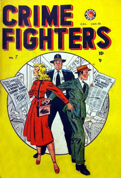 Cover for Crimefighters Comics (Bell Features, 1948 series) #7
