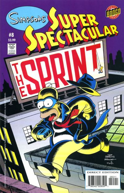 Cover for Bongo Comics Presents Simpsons Super Spectacular (Bongo, 2005 series) #8