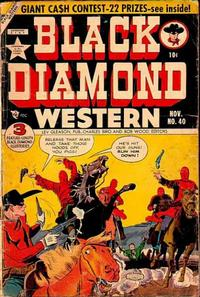 Cover Thumbnail for Black Diamond Western (Lev Gleason, 1949 series) #40