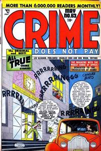 Cover Thumbnail for Crime Does Not Pay (Lev Gleason, 1942 series) #63