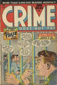 Cover Thumbnail for Crime Does Not Pay (Lev Gleason, 1942 series) #64