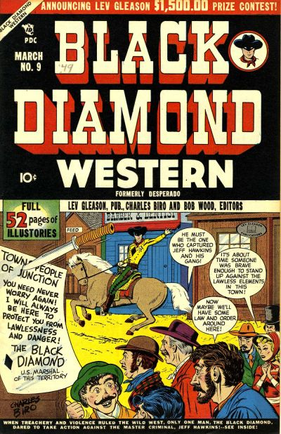 Cover for Black Diamond Western (Lev Gleason, 1949 series) #9