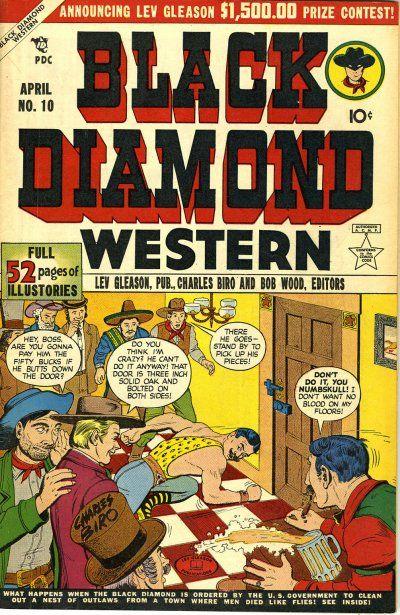 Cover for Black Diamond Western (Lev Gleason, 1949 series) #10