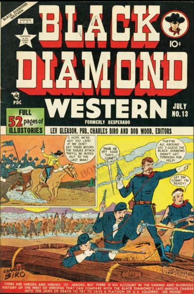 Cover for Black Diamond Western (Lev Gleason, 1949 series) #13