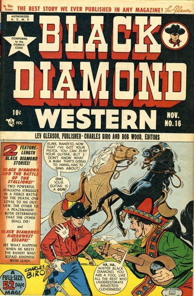 Cover for Black Diamond Western (Lev Gleason, 1949 series) #16