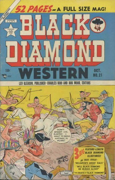 Cover for Black Diamond Western (Lev Gleason, 1949 series) #21