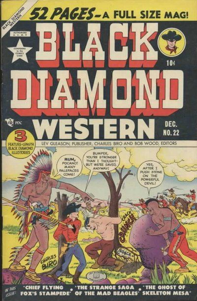 Cover for Black Diamond Western (Lev Gleason, 1949 series) #22