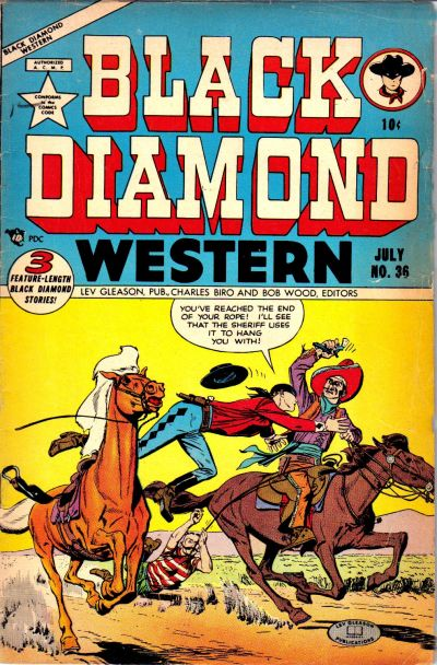 Cover for Black Diamond Western (Lev Gleason, 1949 series) #36