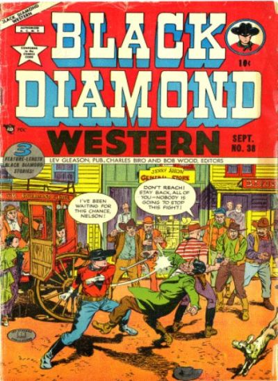 Cover for Black Diamond Western (Lev Gleason, 1949 series) #38