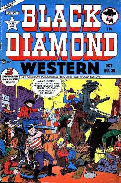 Cover for Black Diamond Western (Lev Gleason, 1949 series) #39