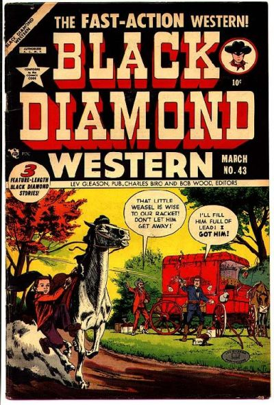 Cover for Black Diamond Western (Lev Gleason, 1949 series) #43