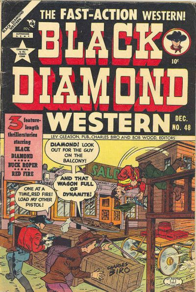 Cover for Black Diamond Western (Lev Gleason, 1949 series) #48
