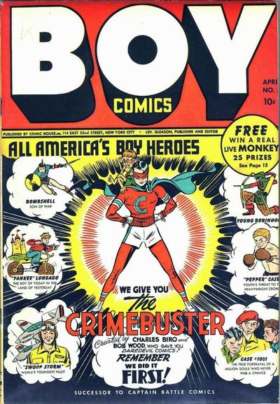 Cover for Boy Comics (Lev Gleason, 1942 series) #3