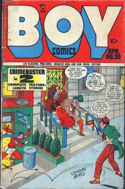 Cover for Boy Comics (Lev Gleason, 1942 series) #39