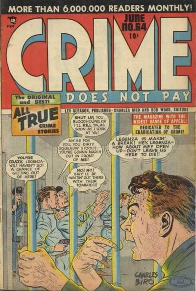 Cover for Crime Does Not Pay (Lev Gleason, 1942 series) #64