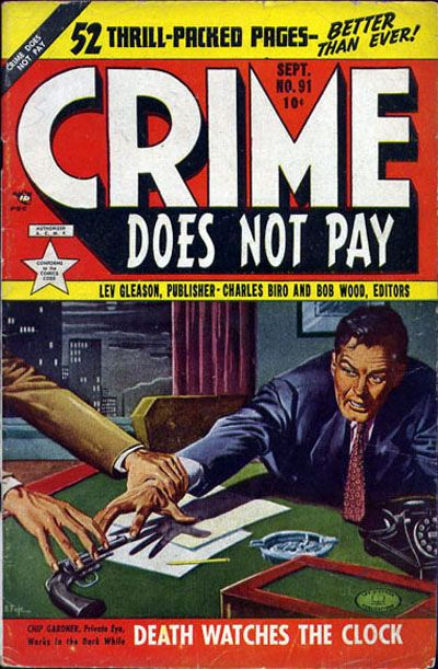 Cover for Crime Does Not Pay (Lev Gleason, 1942 series) #91