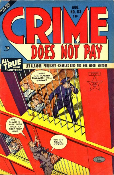 Cover for Crime Does Not Pay (Lev Gleason, 1942 series) #113