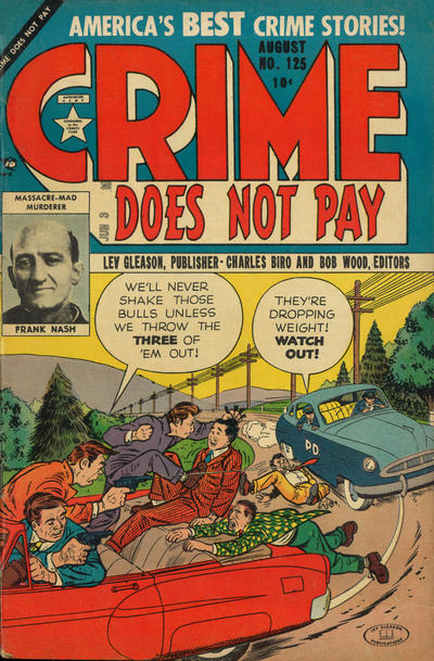 Cover for Crime Does Not Pay (Lev Gleason, 1942 series) #125