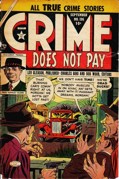 Cover for Crime Does Not Pay (Lev Gleason, 1942 series) #126