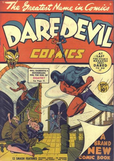 Cover for Daredevil Comics (Lev Gleason, 1941 series) #2