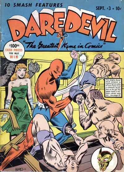 Cover for Daredevil Comics (Lev Gleason, 1941 series) #3
