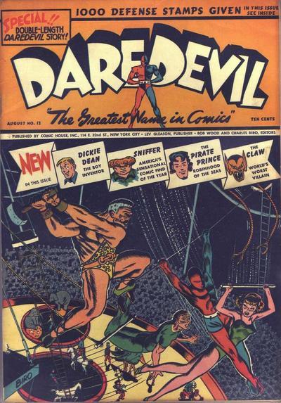 Cover for Daredevil Comics (Lev Gleason, 1941 series) #12