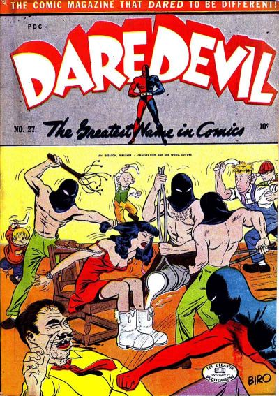 Cover for Daredevil Comics (Lev Gleason, 1941 series) #27