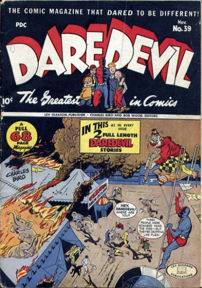 Cover for Daredevil Comics (Lev Gleason, 1941 series) #39
