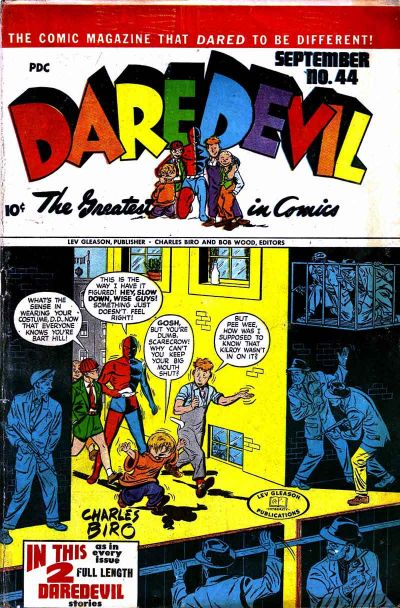 Cover for Daredevil Comics (Lev Gleason, 1941 series) #44